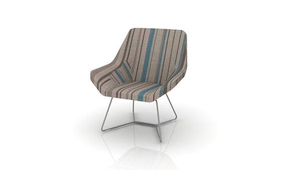 Keilhauer Cahoots Lounge Chair with Sled Base - CH-2A