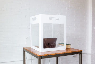 Cubby Portable Desk Protection Shield