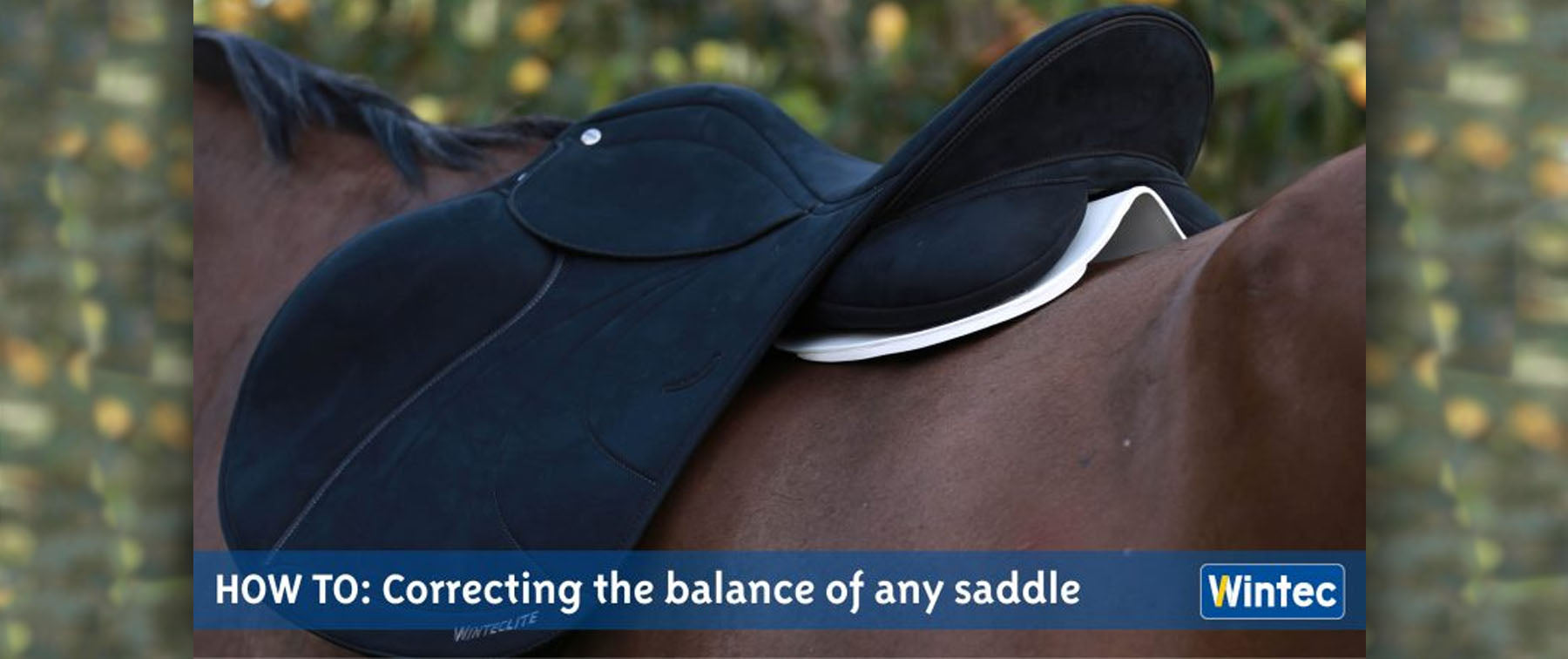 How to easily correct your saddle balance