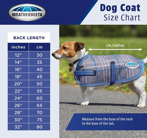 Weatherbeeta Dog coat measurement guide - PetnPony