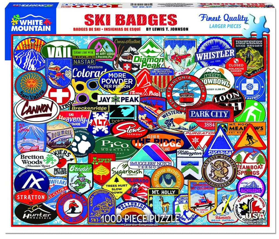 Ski Badges Puzzle: 1000 pc