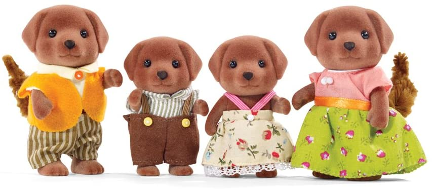 Calico Critters Family: Chocolate Labrador