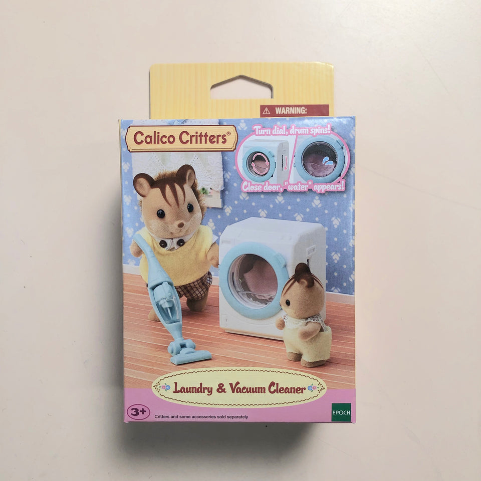Calico Critters Set: Laundry & Vacuum Cleaner