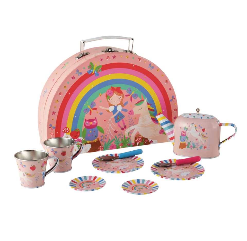 Tin Tea Set: Rainbow Fairy