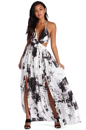ARTIST'S MUSE CHIFFON MAXI DRESS - Debbie Carter Fashion HQ