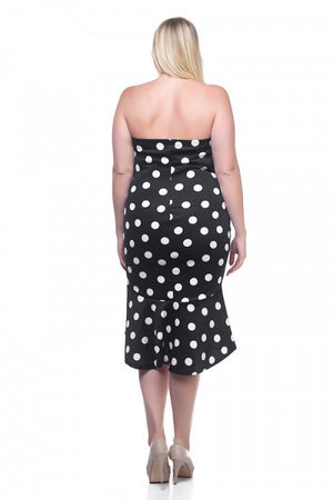 Sleeveless Polka Dot Dress - Debbie Carter Fashion HQ
