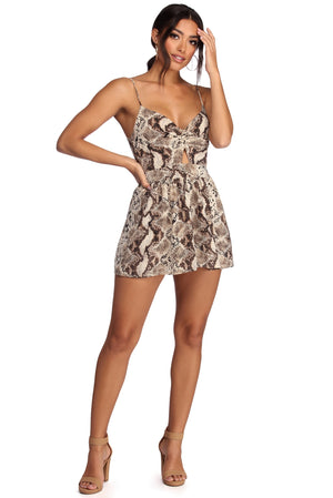 INTO THE WILD TWIST FRONT ROMPER - Debbie Carter Fashion HQ
