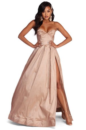 JANET SWEETHEART SLIT FORMAL DRESS - Debbie Carter Fashion HQ