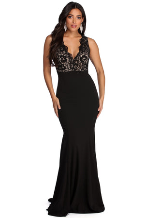 MARLEE FORMAL LACE MERMAID DRESS - Debbie Carter Fashion HQ