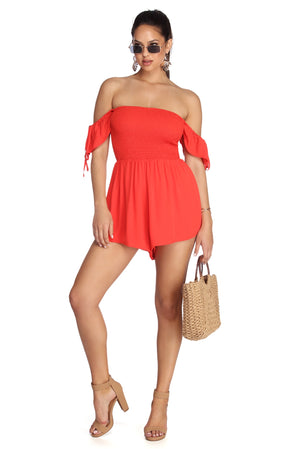 RING THE ALARM SMOCKED ROMPER - Debbie Carter Fashion HQ