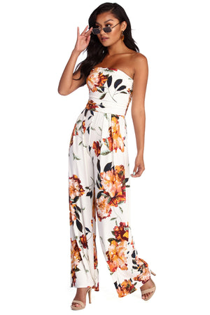 SPRUNG ON FLORALS JUMPSUIT - Debbie Carter Fashion HQ