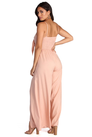 SWEET SURPRISE WIDE LEG JUMPSUIT - Debbie Carter Fashion HQ