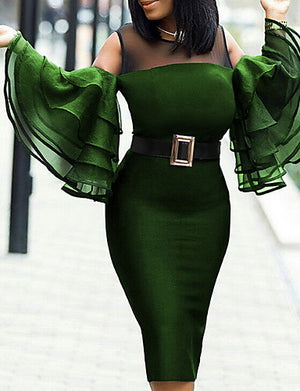 2019 New Arrival Dresses Women's Bodycon Dress Elbise Vestidos Robe Femme Green Black Wine - Debbie Carter Fashion HQ