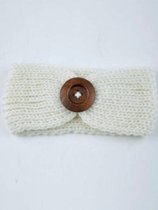 White Knit Headband