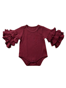 Burgundy Bell Sleeve Bodysuit