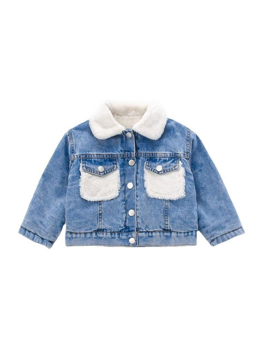 Faux Fur Jean Jacket