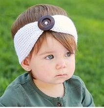 Load image into Gallery viewer, White Knit Headband