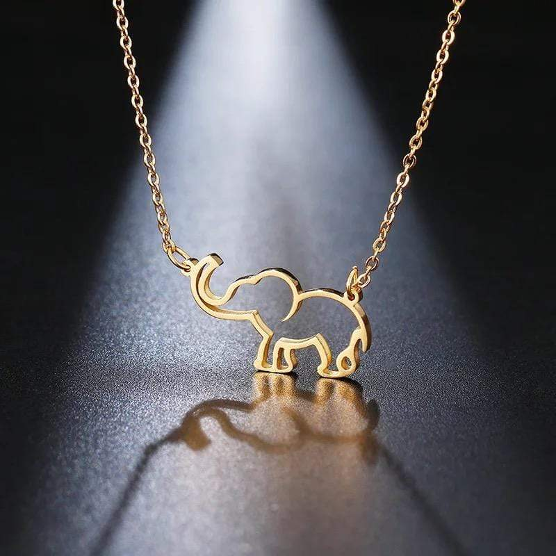 Yellow Summer Elephant Necklace
