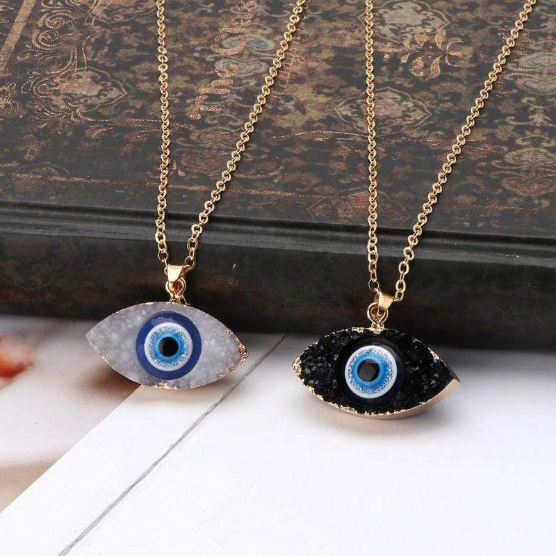 Yellow Summer Evil Eye Necklace
