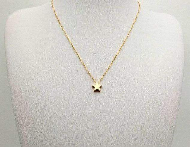 Yellow Summer Single Star Necklace