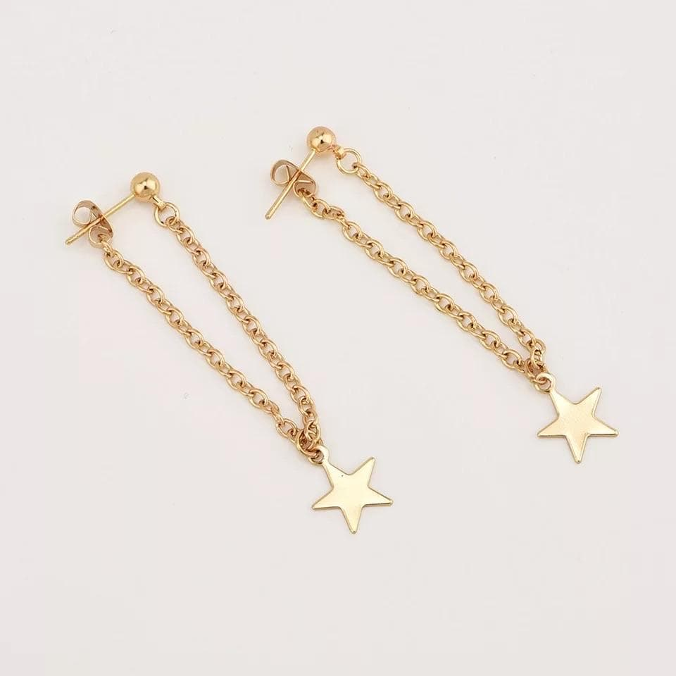 yellowsummer Chain Star Earrings