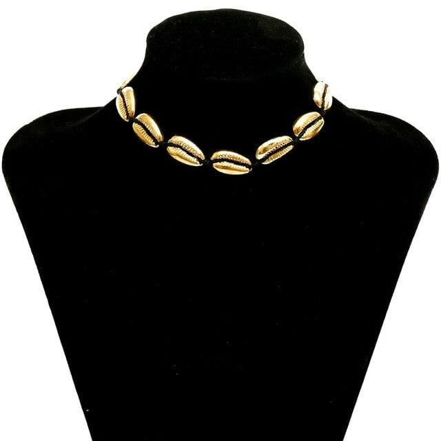 yellowsummer Cowrie Shell Choker