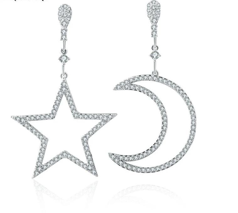 yellowsummer Moon and Star Earrings
