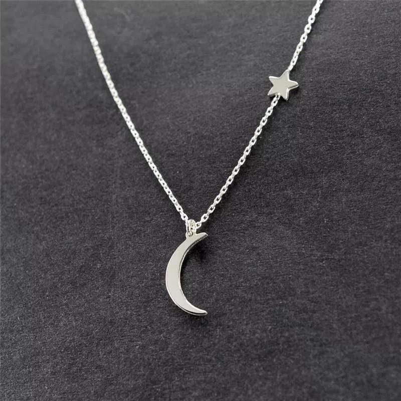 yellowsummer Moon and Star Necklace