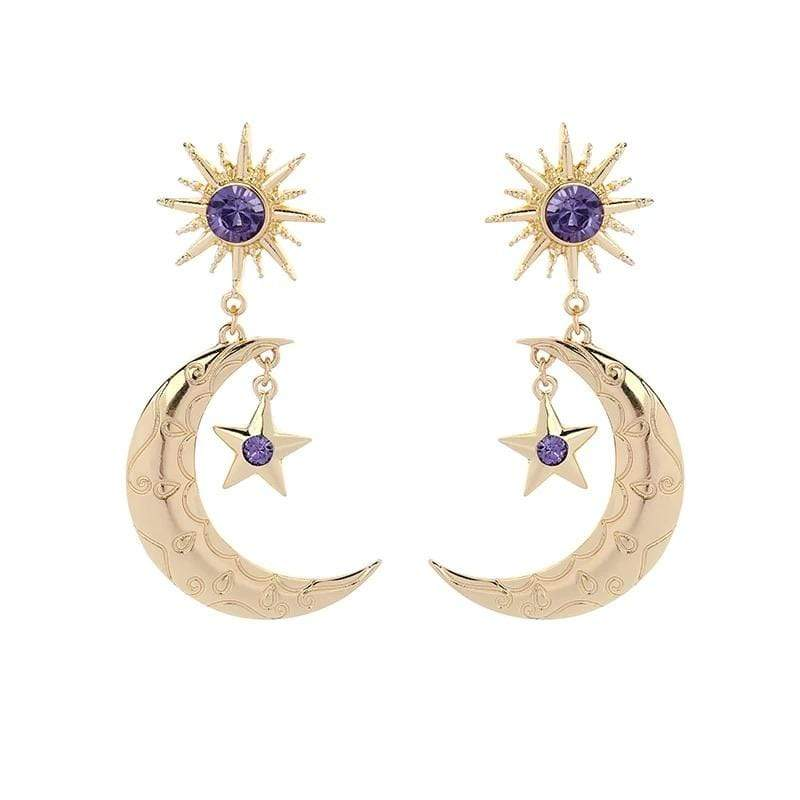 yellowsummer Moon Earrings