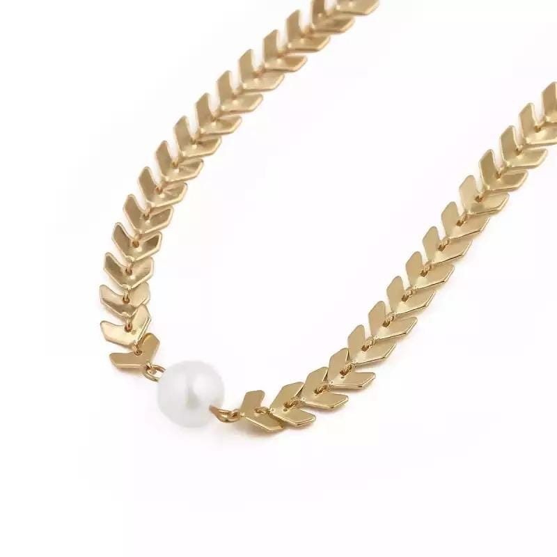 yellowsummer Single Pearl Necklace