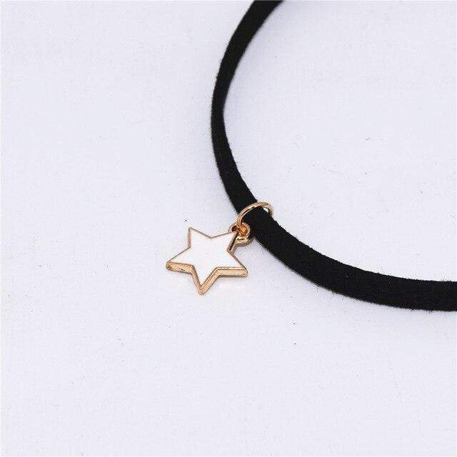 yellowsummer Velvet Star Choker