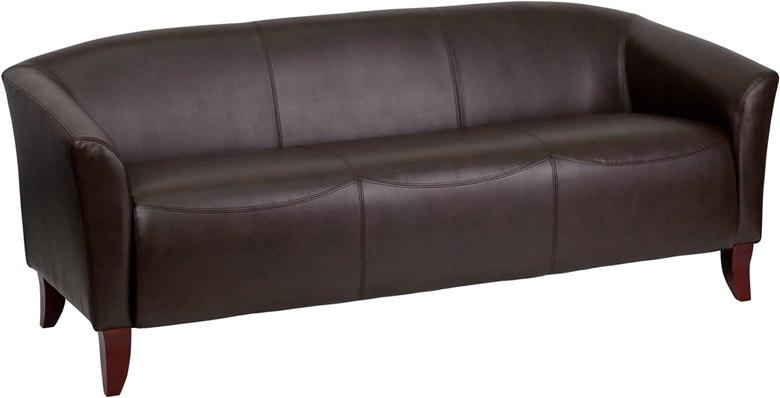 Flash Furniture 111-3-BN-GG HERCULES Imperial Series Brown Leather Sofa
