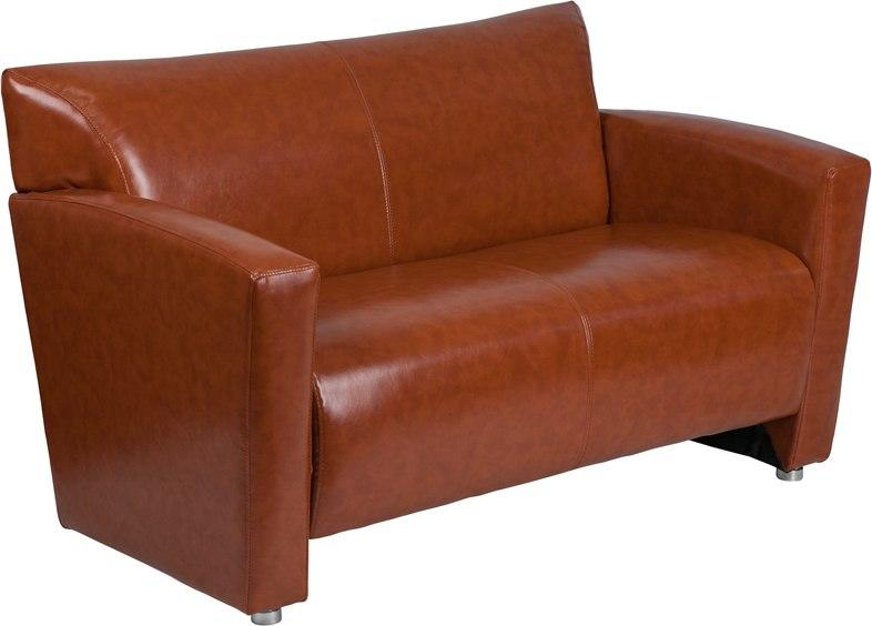 Flash Furniture 222-2-CG-GG HERCULES Majesty Series Cognac Leather Loveseat