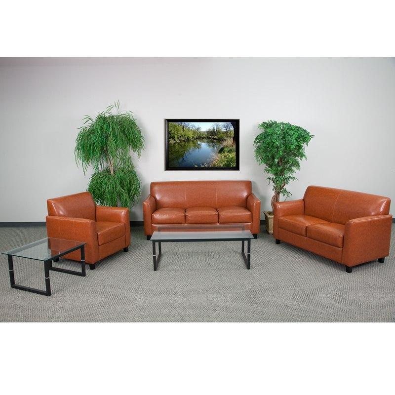 Flash Furniture BT-827-SET-CG-GG HERCULES Diplomat Series Reception Set in Cognac