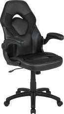 Flash Furniture High Back Racing Style Ergonomic Gaming Chair with Flip-Up Arms, Black LeatherSoft