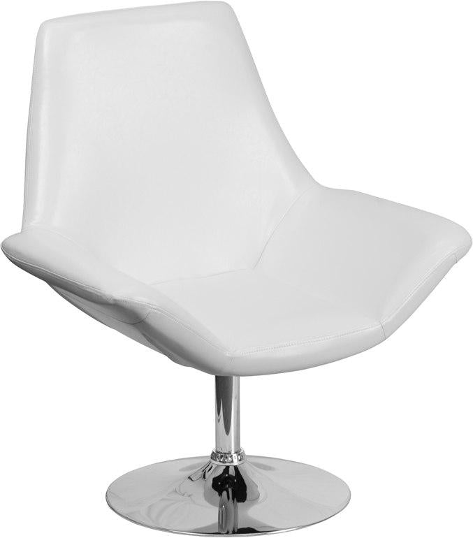 Flash Furniture CH-102242-WH-GG HERCULES Sabrina Series White Leather Side Reception Chair