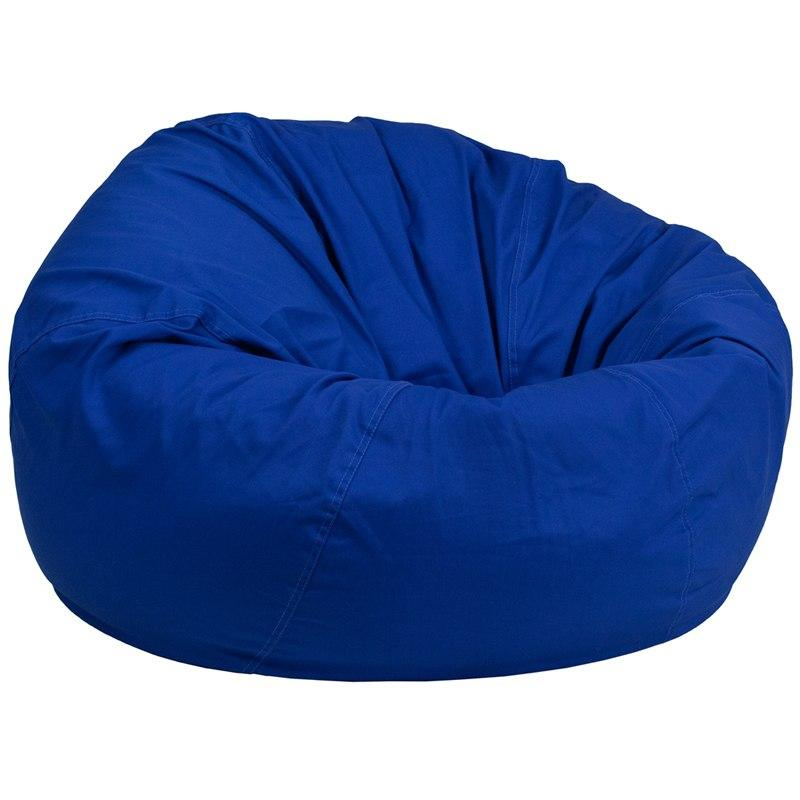 Flash Furniture DG-BEAN-LARGE-SOLID-ROYBL-GG Oversized Solid Royal Blue Bean Bag Chair