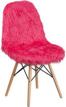 Flash Furniture DL-1-GG Shaggy Dog Hot Pink Accent Chair