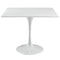 "Modway Lippa 36"" Square Wood Top Dining Table in White"