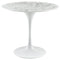 "Modway Lippa 36"" Round Artificial Marble Dining Table in White"