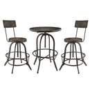 Modway Gather 3 Piece Dining Set in Black - EEI-1604-BLK-SET