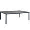 "Modway Summon 90"" Outdoor Patio Dining Table in Gray"