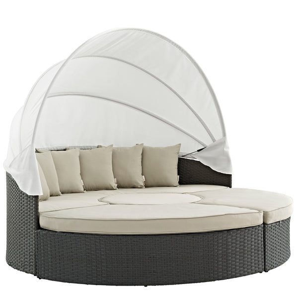 Modway Sojourn Outdoor Patio Sunbrella® Daybed in Antique Canvas Beige