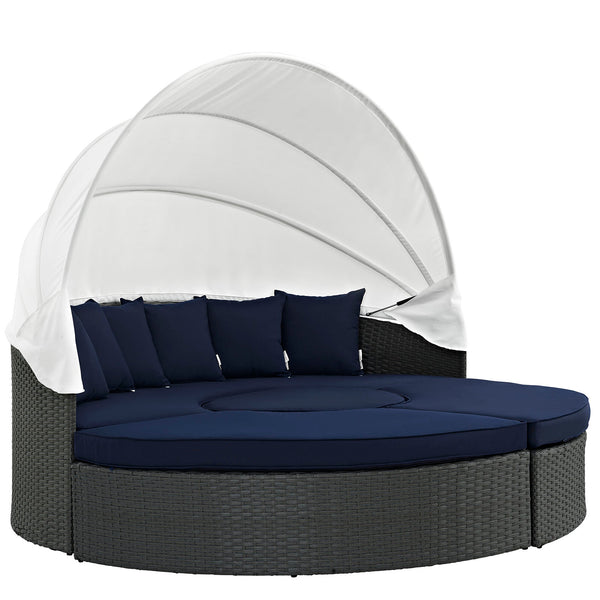 Modway Sojourn Outdoor Patio Sunbrella® Daybed in Canvas Navy