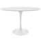 "Modway Lippa 48"" Oval Wood Top Dining Table in White"