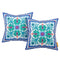 Modway  Two Piece Outdoor Patio Pillow Set in Clover