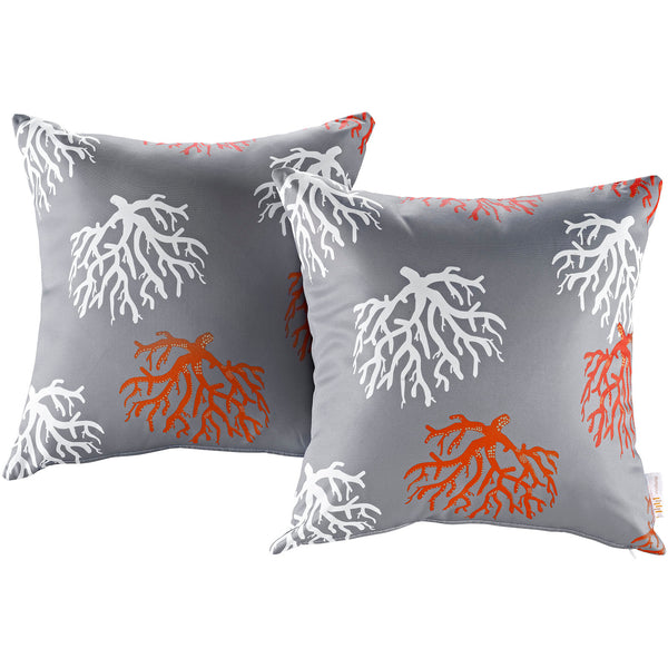 Modway  Two Piece Outdoor Patio Pillow Set in Orchard