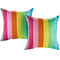 Modway  Two Piece Outdoor Patio Pillow Set in Rainbow