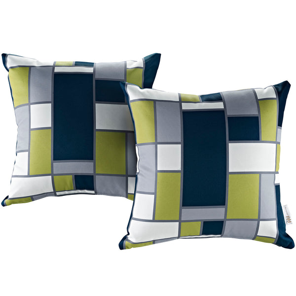Modway  Two Piece Outdoor Patio Pillow Set in Rectangle