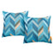 Modway  Two Piece Outdoor Patio Pillow Set in Wave